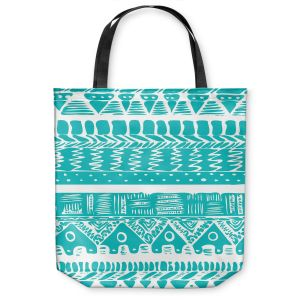 Unique Shoulder Bag Tote Bags | Organic Saturation Boho Blue Aztec
