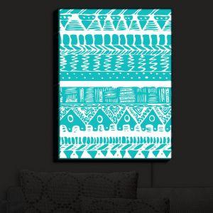 Nightlight Sconce Canvas Light | Organic Saturation - Boho Blue Aztec
