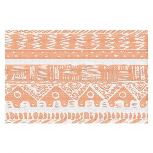 Decorative Floor Coverings | Organic Saturation Boho Coral Aztec