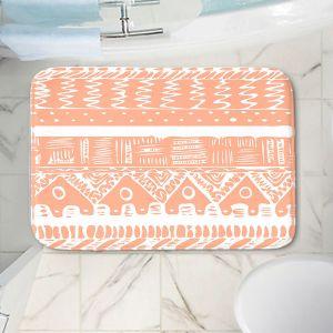 Decorative Bathroom Mats | Organic Saturation - Boho Coral Aztec