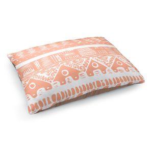 Decorative Dog Pet Beds   Organic Saturation's Boho Coral Aztec