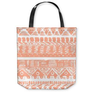 Unique Shoulder Bag Tote Bags | Organic Saturation Boho Coral Aztec
