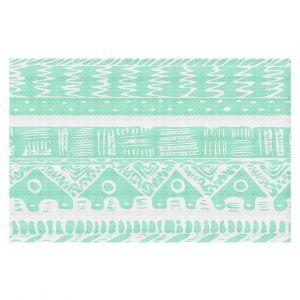 Decorative Floor Coverings | Organic Saturation Boho Mint Aztec