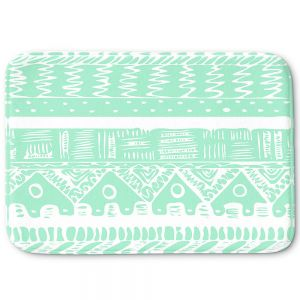 Decorative Bathroom Mats | Organic Saturation - Boho Mint Aztec
