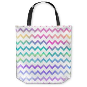 Unique Shoulder Bag Tote Bags | Organic Saturation Bubble Ikat Chevron