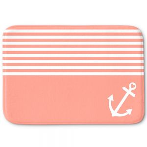 Decorative Bath Mat Small from DiaNoche Designs by Organic Saturation - Coral Love Anchor Nautical