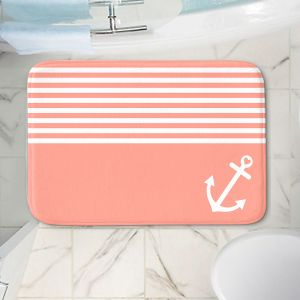 Decorative Bathroom Mats | Organic Saturation - Coral Love Anchor Nautical
