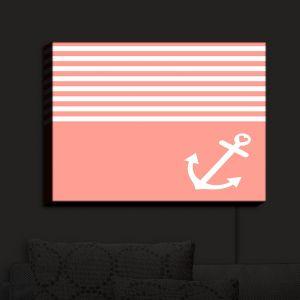Nightlight Sconce Canvas Light | Organic Saturation - Coral Love Anchor Nautical