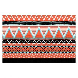 Decorative Floor Coverings | Organic Saturation Coral Tribal