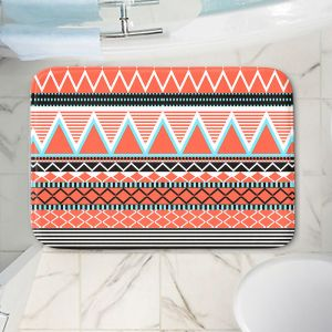 Decorative Bathroom Mats | Organic Saturation - Coral Tribal