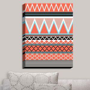 Decorative Canvas Wall Art   Organic Saturation - Coral Tribal