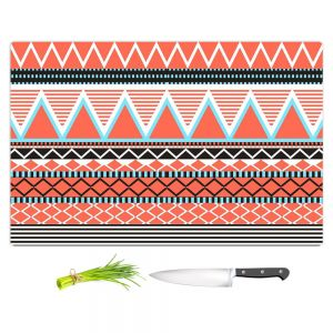 Artistic Kitchen Bar Cutting Boards | Organic Saturation - Coral Tribal