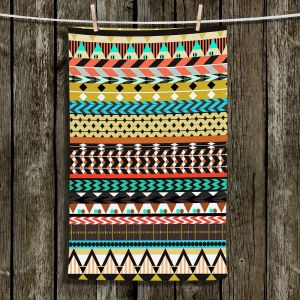 Unique Hanging Tea Towels | Organic Saturation - Desert Aztec Pattern | Abstract Patterns