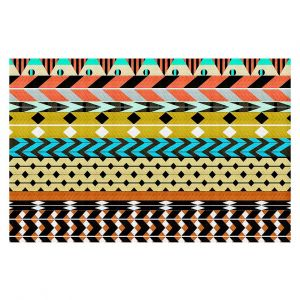 Decorative Floor Coverings | Organic Saturation Desert Aztec Pattern
