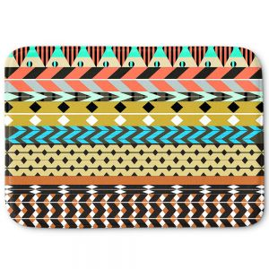 Decorative Bathroom Mats | Organic Saturation - Desert Aztec Pattern