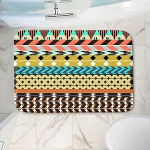 Decorative Bathroom Mats | Organic Saturation - Desert Aztec Pattern