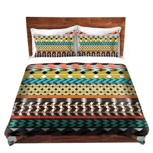 Artistic Duvet Covers and Shams Bedding | Organic Saturation - Desert Aztec Pattern