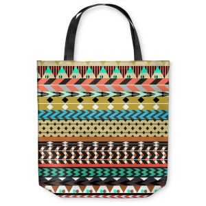 Unique Shoulder Bag Tote Bags | Organic Saturation Desert Aztec Pattern