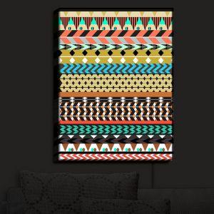 Nightlight Sconce Canvas Light | Organic Saturation - Desert Aztec Pattern