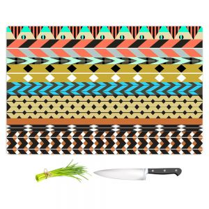 Artistic Kitchen Bar Cutting Boards | Organic Saturation - Desert Aztec Pattern