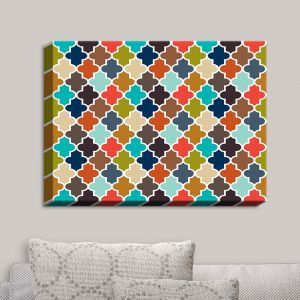 Decorative Canvas Wall Art | Organic Saturation - Earthy Quatrefoil