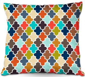 Throw Pillows Decorative Artistic | Organic Saturation's Earthy Quatrefoil