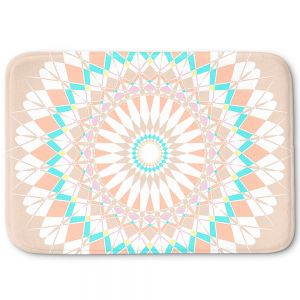 Decorative Bathroom Mats | Organic Saturation - Feather Star Mandala