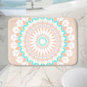 Decorative Bathroom Mats | Organic Saturation - Feather Star Mandala