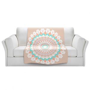 Unique Sherpa Blankets from DiaNoche Designs by Organic Saturation - Feather Star Mandala