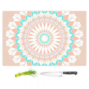 Artistic Kitchen Bar Cutting Boards | Organic Saturation - Feather Star Mandala