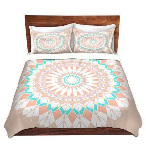 Artistic Duvet Covers and Shams Bedding   Organic Saturation - Feather Star Mandala