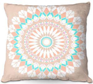 Throw Pillows Decorative Artistic | Organic Saturation - Feather Star Mandala
