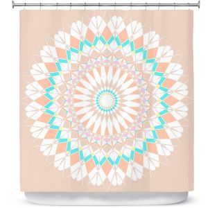 Premium Shower Curtains | Organic Saturation - Feather Star Mandala