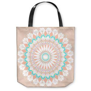 Unique Shoulder Bag Tote Bags  Organic Saturation - Feather Star Mandala