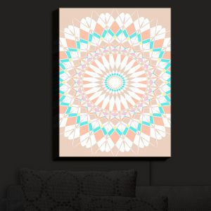 Nightlight Sconce Canvas Light | Organic Saturation - Feather Star Mandala | Mandala Patterns