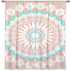 Decorative Window Treatments | Organic Saturation - Feather Star Mandala