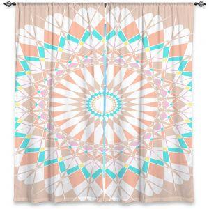 Decorative Window Treatments | Organic Saturation - Feather Star Mandala