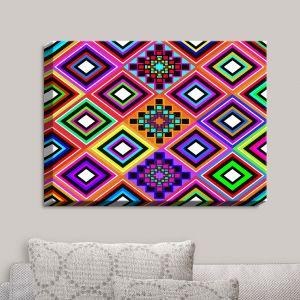 Decorative Canvas Wall Art   Organic Saturation - Fiesta Native Inspired