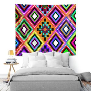 Artistic Wall Tapestry | Organic Saturation Fiesta Native Inspired
