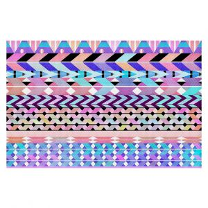 Decorative Floor Coverings | Organic Saturation Girly Colorful Aztec Pattern