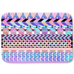 Decorative Bathroom Mats | Organic Saturation - Girly Colorful Aztec Pattern