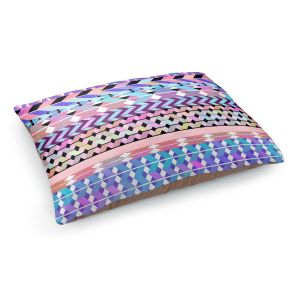 Decorative Dog Pet Beds | Organic Saturation's Girly Colorful Aztec Pattern