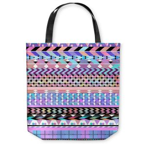 Unique Shoulder Bag Tote Bags   Organic Saturation Girly Colorful Aztec Pattern