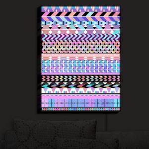 Nightlight Sconce Canvas Light | Organic Saturation - Girly Colorful Aztec Pattern