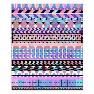Decorative Wood Plank Wall Art   Organic Saturation Girly Colorful Aztec Pattern