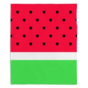 Decorative Fleece Throw Blankets | Organic Saturation - I Love Watermelon