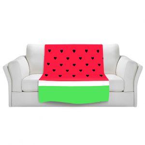 Artistic Sherpa Pile Blankets | Organic Saturation I Love Watermelon