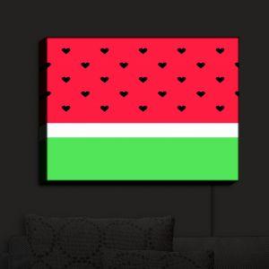 Nightlight Sconce Canvas Light | Organic Saturation - I Love Watermelon