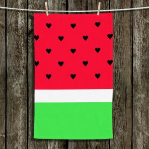 Unique Hanging Tea Towels | Organic Saturation - I Love Watermelon | Abstract Patterns