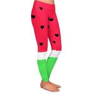 Casual Comfortable Leggings | Organic Saturation I Love Watermelon
